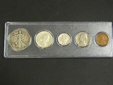 1941 Year Set, 5 Coins Half Dollar-Cent! Early U.S. Coins !!