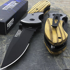 10 x WOOD SPRING ASSISTED POCKET TACTICAL FOLDING KNIFE Blade Wholesale Lot