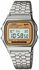 Casio Men's Silver Stainless-Steel Quartz Water Resist Light Watch with Digital