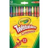 Crayola 12 Twistables Crayons Wax School Stationery Art Craft Coloured Sticks