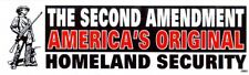 The Second Amendment  America's Original Homeland Security  Bumper Decal