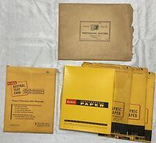 Vtg Kodak Photographic Paper Lot Open Pak 10x8 Xmas Greeting Negatives Test +