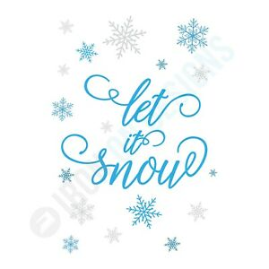 CHRISTMAS LET IT SNOW - IRON ON TSHIRT TRANSFERS - A6 A5 A4
