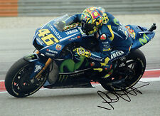 VALENTINO ROSSI Autograph 2017 SIGNED 16x12 Yamaha Photo B AFTAL COA The Doctor