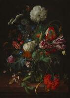Jan Davidsz de Heem: Vase of Flowers. Fine Art Print/Poster