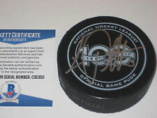 LUC ROBITAILLE Signed NHL 100th Anniversary Official GAME Puck w/ Beckett COA