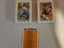 1986 Topps Major League Leaders Baseball Card Mini Complete Set (66)