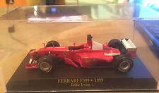 """DIE CAST """" FERRARI F399 - 1999 EDDIE IRVINE + BOX 1 """"  1/43"""