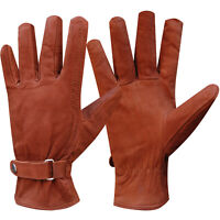 Winter Leather Motorcycle Gloves Motorbike Biker Cycling Lining Gloves L-XL