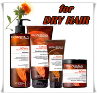 L'Oreal BOTANICALS SAFFLOWER Dry Hair Rich Infusion Shampoo Conditioner Mask
