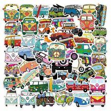 50 Volkswagen T1 Travelling Car Stickers Skateboard Laptop Luggage US SELLER