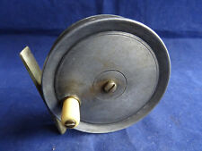"""A FINE VINTAGE DINGLEY 3 1/2"""" TROUT FLY REEL WITH EARLY NICKEL BRIDGE FOOT"""