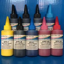900ml PIGMENT PRINTER INK REFILL BOTTLES FITS EPSON SURECOLOR SC-P600 SC-P800