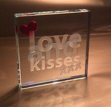 Spaceform Love & Kisses Keepsake Romantic Valentines Gift Ideas For Her Him 1401