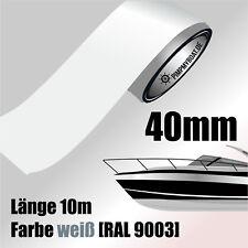 ZIERSTREIFEN 10m WEIß 40mm Auto Boot Jetski Modellbau Vinyl Dekorstreifen 4 cm