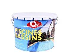 PEINTURE PISCINE BASSIN 10 LITRES GRIS PERLE OXI compatible eau chlorée eau mer