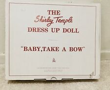 Dm-02 - Shirley Temple / Dress Up Doll / Baby Take a Bow / Mint Condition