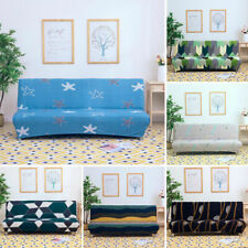 Stretch Armless Sofa Bed Covers Couch Loveseat Futon Elastic Slipcovers Protect