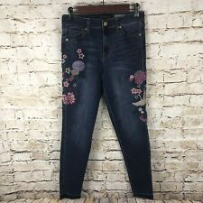 Aeropostale High Waisted Ankle Jegging Embroidered Print Jeans Womems US Size 6