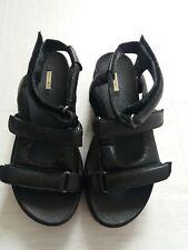 Max Studio Ladies Black Platform Sandals Straps Open Toes Non Slip UK Size 6