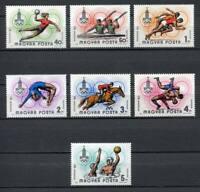 32383) HUNGARY 1980 MNH** Olympic G. 7v.  Scott# C418/24