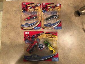 2011 Maisto Spider Sense Spider-Man (3) Piece Lot Spider-Man~Rhino & Versus *NIB