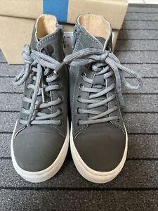 John Lewis Jaime Hi Top Grey Shoes Size 10 Toddler