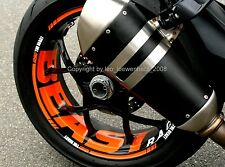 Sticker jante KTM SUPER DUKE SD 1290 R SDR GT Rim autocollants