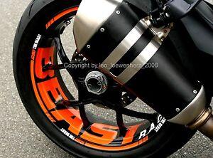 Aufkleber Felgenaufkleber KTM SuperDuke SD 1290 R SDR GT Felgenrandaufkleber
