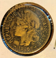 1925 Cameroon 1 Franc Collectible Coin KM#2 Key Date~French Mandate