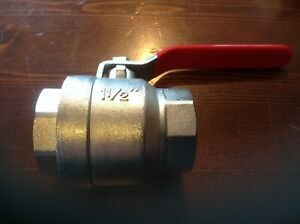 """RED LEVER BALL TWO WAY VALVE 1 1/2""""  WATER VALVE"""