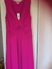 Per Una new,tags,pink long dress size 16,V neck,sleeveless,M.wash,£39.50 now £15