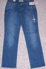LEVI'S Blue Denim 505 Straight Leg Mid-Rise Jeans Size 10 or 30 x 32  NWT