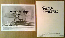 Pressbook + Photo~ Disney's PETAL TO THE METAL ~1992 ~Bobcat Bokers ~Cartoon