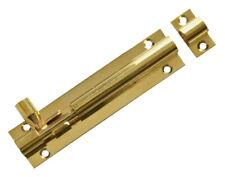 """4"""" Brass Door Bolt / Lock Bathroom Lock / Standard Bolt & Screws"""