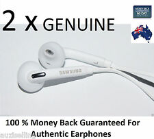 2XGENUINE Samsung Galaxy S6 Note Edge Handsfree Headphone Earphone S5 S4 Note 4