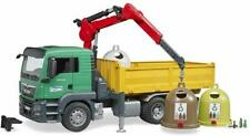 Bruder Toys Man Tgs Truck with 3 Glass Recycling Containers and Bottles