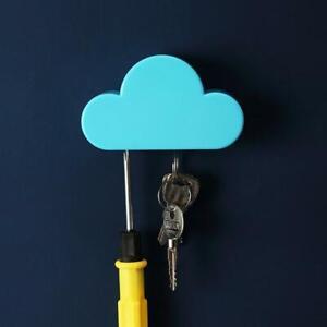 1pcs Home Kit Cute Cloud Shape Magnetic Key Hook Wall Hangers Holder Decor HOT