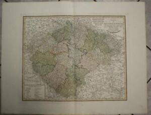 BOHEMIA CZECH REPUBLIC 1804 GÜSSEFELD LARGE ANTIQUE ORIGINAL COPPER ENGRAVED MAP