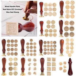 Retro Letter Wax Seal Stamp Wooden Handle Sealing Wax DIY Envelope Album Craft