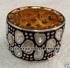 Vintage 3.50cts Natural Antique cut Diamond Silver Eternity Ring Band Jewelry