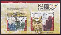 2000 Towards Federation CTO Mini Sheet - London 2000 Stamp Exhibition