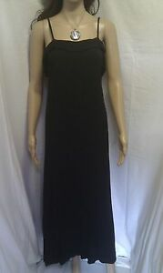 JANE NORMAN Black Maxi Dress. Evening, Cocktail Party, Occasion.  SIZE 10 - 12
