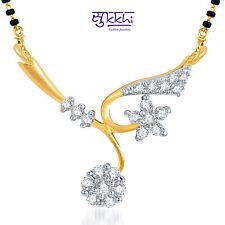 Sukkhi Elegant Wedding CZ Gold and Rhodium Plated Mangalsutra Pendant - 118M400