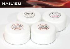 Set acrilico 4X10G POLVERE nail1eu: Trasparente, Fucsia, Correttore DOLCE ROSA,