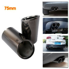 for Audi A3 11-14 Rear Muffler 75mm Stainless Steel Exhaust Tailpipes Tip Black