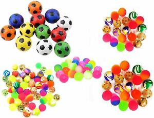Bouncy Jet Balls Footballs Children Kids Party Loot Bags Xmas Stocking Fillers