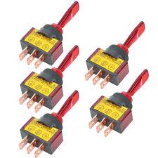 5Pcs 12V 20A Red LED Light OFF/ON SPST Toggle Rocker Switch For Car Motor Sales