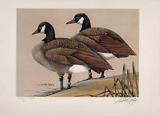 Virginia #2 1989 State Duck Stamp Print Canada Geese by Art LaMay