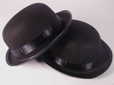 10 Sombreros gorro Bombin Negro de tela Fiestas Disfraces Despedidas Bodas